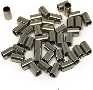 Stainless Steel Crimp Bead Tubes 3mm x 2mm (50)