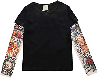 Baby Boys Girls Tattoo Sleeve T-Shirt Unisex Toddler Cotton Tees Tops