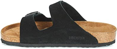 Birkenstock Arizona Black Soft Footbed Suede Leather