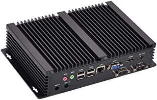 HUNSN Fanless Industrial PC, Mini Computer, Intel Celeron 1007U/2955U, Windows 7/10 Pro/Linux Ubuntu, IM03, AC WiFi/BT4.0/...