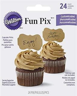 Wilton 2113-9362 Customizable Kraft Cupcake Toppers