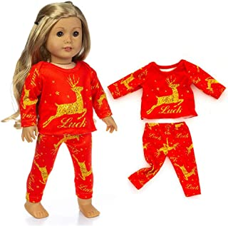 Christmas Santa Doll Clothes Outfits Dress Compatibel voor 18 Inch American Girl Dolls