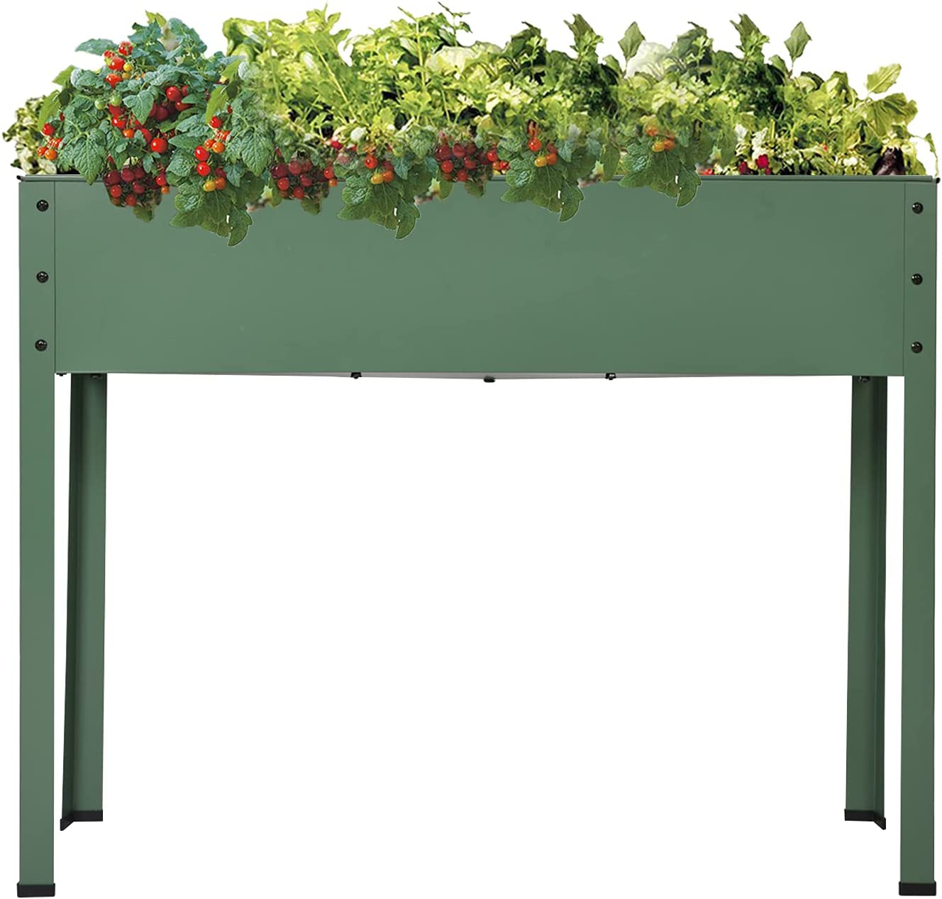 Kinbor Herb Garden Planter, Elevated Planter Box with Legs Outdoor, Raised Garden Bed, Outdoor Standing Planter Beds for Vegetable Flower Herb