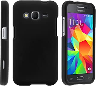 TurtleArmor | Compatible with Samsung Galaxy Core Prime Case | Prevail | Win 2 [Slim Duo] Two Piece Hard Cover Slim Snap On Case on Black - Black