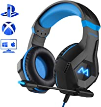 Mpow EG9 Casque Gaming PS4, Casque Gamer avec Lumière LED RGB, Son Surround, Casque Gaming avec Microphone à Réduction de Bruit, pour Nintendo Switch, PS4, PC, Xbox One, Bandeau Réglable, Cble 2, 2 m