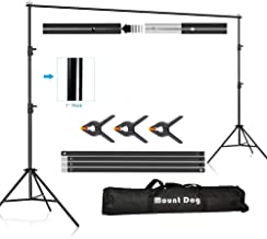 MOUNTDOG 6.5ftx10ft Backdrop Support Stand Adjustable Photography Studio Background Support System Kit with Carrying Bag for Photo Video Shooting