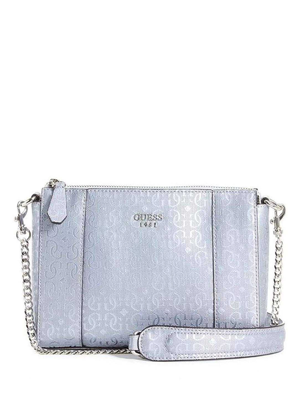ホールドオールスクラップ文句を言う[ゲス] Kamryn Convertible レディーズ クロスボディ ショルダーバッグ Ladies Crossbody Shoulder Bag in Silver [並行輸入品]