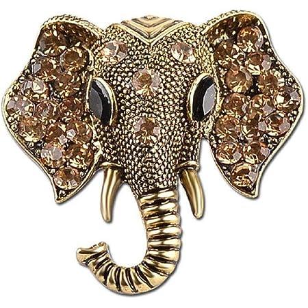Ogquaton Broches de elefante de cristal premium Regalos de broche vintage para mujeres