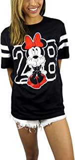 Womens Minnie Mouse Varsity Football Tee