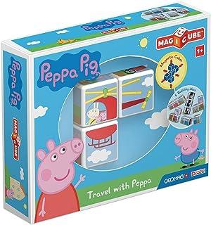 Geomag Magicube 049 Peppa Pig Travel with Peppa - 3 magnetische dobbelstenen - constructiespeelgoed, bouwdoos, educatief s...