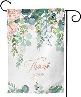 الربيع نباتات طبيعية جميلة أعلام شكر للحديقة 12.5 × 18 بوصة أنيقة بألوان مائية وأوراق زهور وأعلام المنزل خارج لافتات تزيينية