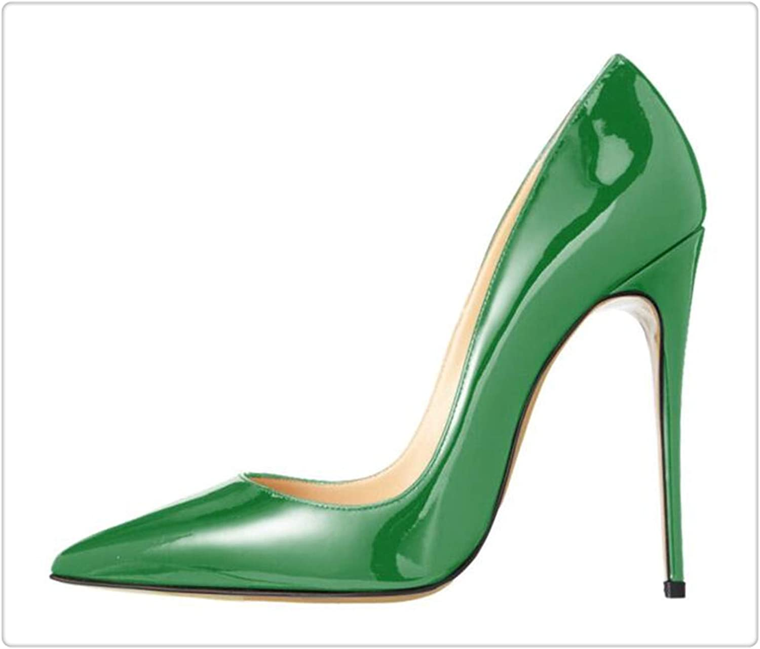 ZXCVB& 2018 shoes Woman High Heels Wedding shoes Black Nude Women Pumps Pointed Toe Sexy High Heels shoes Stilettos Party shoes Green 12