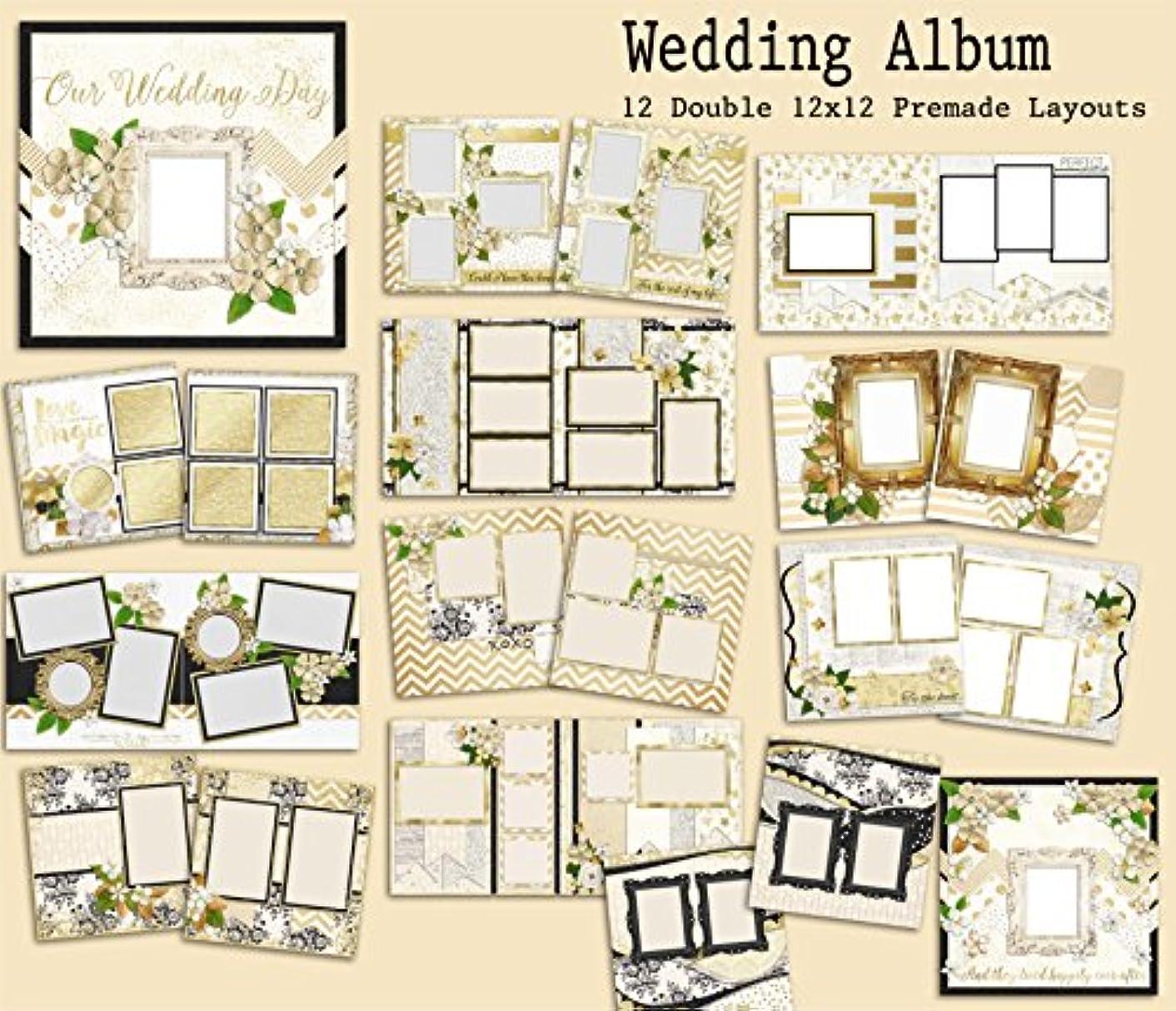 Wedding Album Scrapbook Set - 12 Double Page Layouts