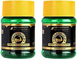 Dr. Vaidya's New Age Ayurveda | Herbobuild | Ayurvedic Capsules for Muscle Gain | 30 capsules (Pack of 2)