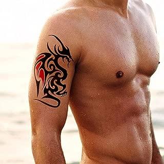 TAFLY Men's Temporary Tattoo Colored Tribal Body Art Transfer Sticker 3 Sheets