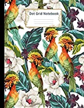 Dot Grid Notebook: Dotted Paper Journal: Beautiful Paradise Bird for Graphing Pad, Design Book, Work Book, Planner, Dotted Notebook, Bullet Journal, Sketch Book, Math Book   Large Size 8.5 X 11 Inches