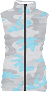 Rainbow Rules Colored Camouflage Womens Puffer Vest Bodywarmer Gilet