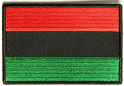 African Flag Embroidered Iron-On Patch - 3x2 inch