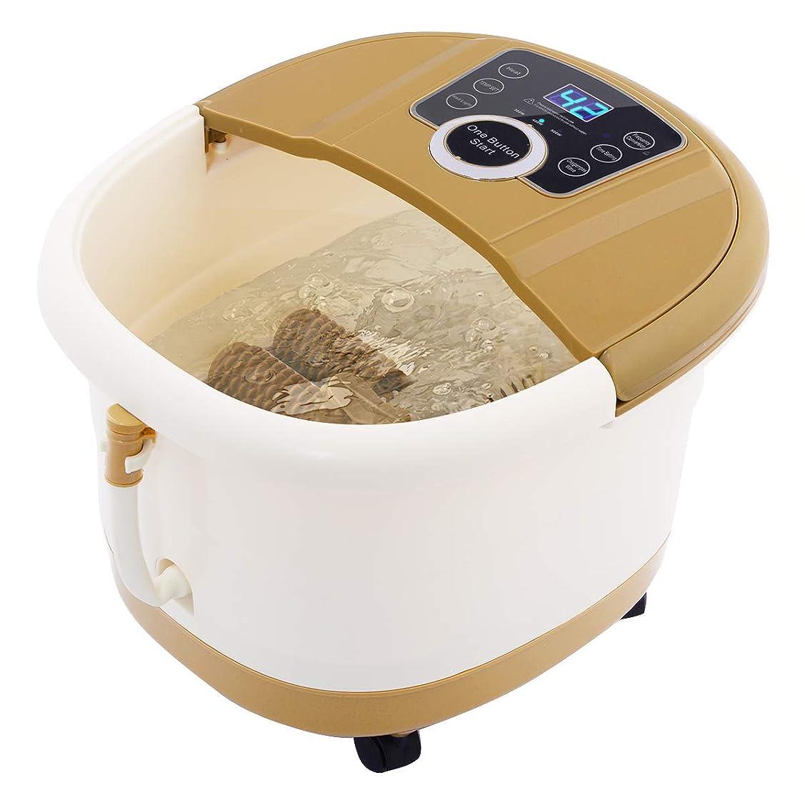 エゴマニア後ろにスナックGiantex Portable Foot Spa Bath Massager Bubble Heat LED Display Infrared Relax フットバス 足湯器 フットスパ 電動 自動保温