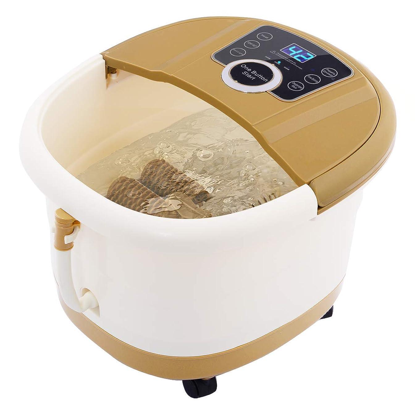 円形の鍔空港Giantex Portable Foot Spa Bath Massager Bubble Heat LED Display Infrared Relax フットバス 足湯器 フットスパ 電動 自動保温
