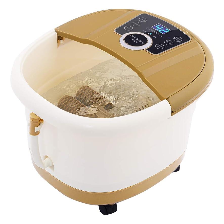 集計仕事広々としたGiantex Portable Foot Spa Bath Massager Bubble Heat LED Display Infrared Relax フットバス 足湯器 フットスパ 電動 自動保温