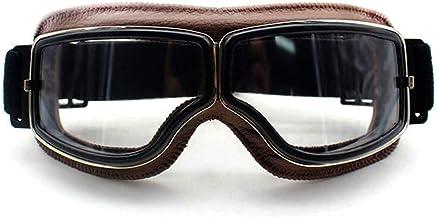 QSCTYG Motorbril Retro Vintage motorbril GOG GLES andere sporten van leer voor Aviator motorbril 266