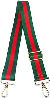 """OCTCHOCO Multicolor 1.5"""" Wide Guitar Strap for Purse Canvas Strap Handbag Shoulder Bag Crossbody Bag Strap (Green)"""