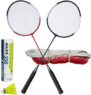 TRIUMPH Magic Badminton Combo with 1 Pair Racket, Net and 6Pc Shuttlecock Set