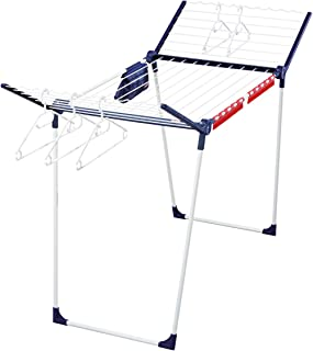 Leifheit Pegasus 200 Deluxe Air Dryer, Foldable Drying Rack, Tall and Stable Drying Stand with extandable Wings, Big Laund...