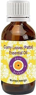 Deve Herbes Pure Curry Leaf (Patta) Essential Oil (Murraya koenigii) 100% Natural Therapeutic Grade Steam Distilled 10ml