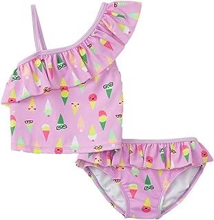Healthtex Baby Girls Ruffle 2 Piece Bikini Swimsuit 3-6 Months Hot Pink Animal Print