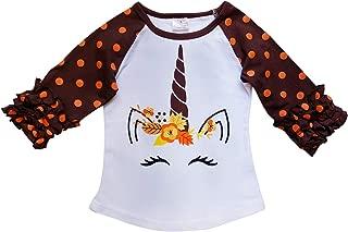So Sydney New Toddler & Girl Fall & Winter Holiday Sparkle Ruffle Raglan T-Shirt