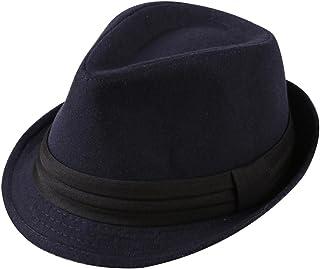 3eba214015c27 Leisial™ Angleterre Gentilhomme Rétro Hommes Top Plat Jazz Chapeau Automne  Hiver Chapeau en Feutre pour