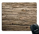 Smooffly Computer Gaming Mouse pad,Wood,Rustic Old Barn Wood Customized Rectangle Non-Slip Rubber Mousepad