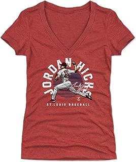 Jordan Hicks Women's Shirt - St. Louis Baseball Shirt for Women - Jordan Hicks Emblem