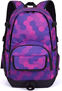 MYXMY Junior high School Student Bag Large Capacity Travel Backpack Male Backpack Travel Computer Bag Fashion Trend Bag (Color : A)