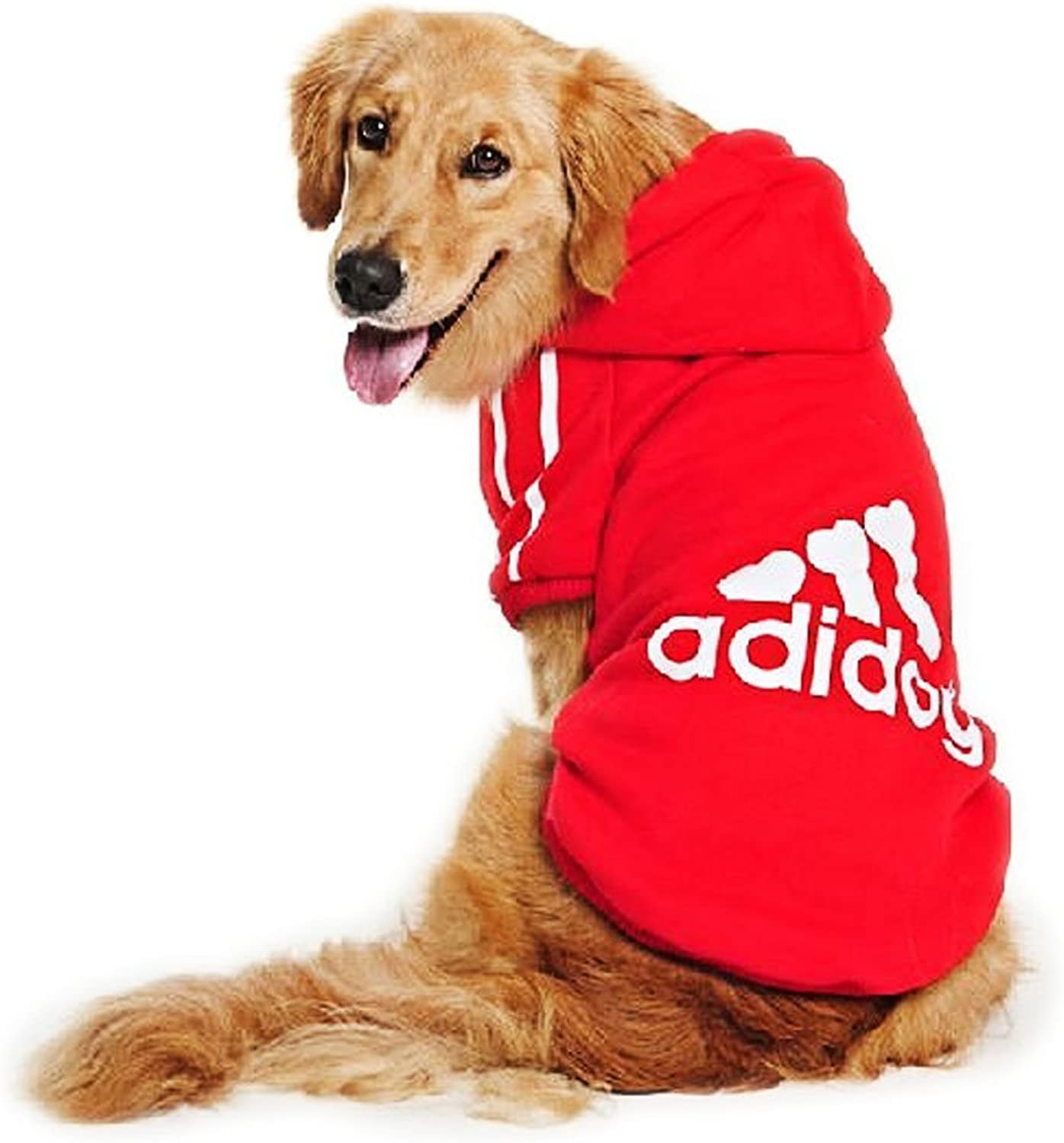 Fankeshi Large Dog Warm Hoodies Coat Clothes Sweater Pet Puppy T Shirt (6XL, Red)