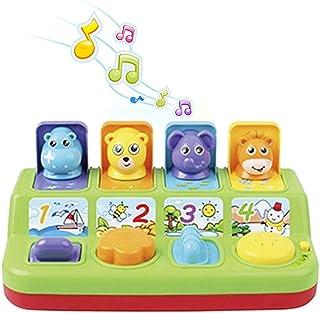 ألعاب فيرست - لعبة حيوانات منبثقة تفاعلية للأطفال الصغار، مع موسيقى، أصوات حيوانات - لعبة نشاط/تعلم للأطفال (9 أشهر) - هدي...