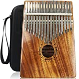 Kalimba 17 Schlüssel, kalimba Instrument mit KOA, Kalimba daumenklavier für Profis und Anfänger, kalimba thumb piano ist ein Geschenk zu Weihnachten, Thanksgiving und Geburtstagen