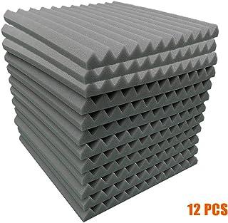 kelebin 12Pcs Acoustic Panels Studio Soundproof Sound Insulation Absorbing Flame Retardant Panels