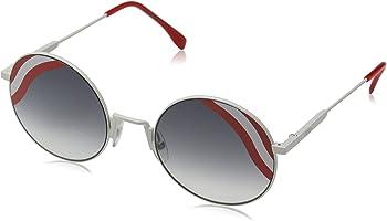 Fendi Waves Grey Gradient Round Ladies Sunglasses