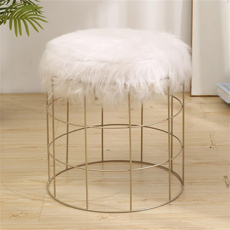 WXXSL Footstool Chicago Mall Bar OFFicial shop Chair Footrest Stool Ottoman Vanity Fur Sea