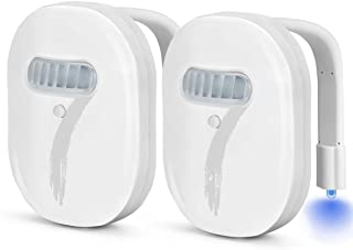 2-Pack Rechargeable Toilet Night Light with Waterproof,Elimi 12-Colors of LED Light, Motion Activated Sensor, Internal Memory, Light Detection
