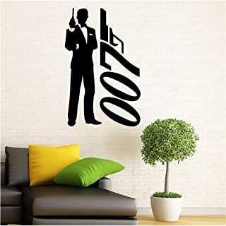 Wall Stickers Decor Motivational Saying Lettering Art James Bond Secret Agent 007 Home Wall Bedroom