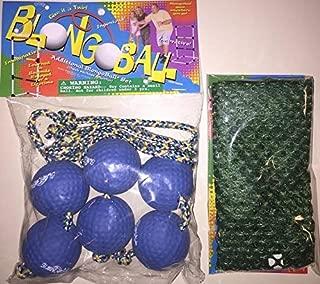 BLONGO BALL 3 BLUE Ladder Ball Replacement SOFT Balls Bolo Toss Hillbilly Golf w/ FREE CASE