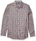 Perry Ellis Men's Slim Fit Multi Color Check Resist Spill Shirt, Pompeian Red, XX Large