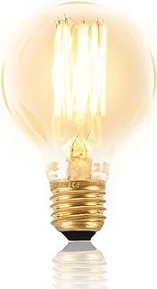 Mr. Classic Bombilla Edison con filamento E27, regulable, retro, iluminación vintage, globo antiguo, decorativa, nostalgia, bombilla de tungsteno, 180 lúmenes, blanco cálido