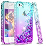 LeYi Custodia iPhone 4 / iPhone 4S Glitter Cover con Vetro Temperato [2 Pack],Brillantini Diamond TPU...