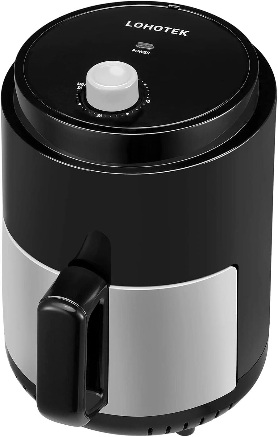 Freidora sin Aceite 2,3L Freidora de Aire-Caliente-Airfryer - Con Temporizador0-30min Temperatura 200ºC Fácil de limpiar Fácil de usar Adecuado para 1-3 personas (1100W)