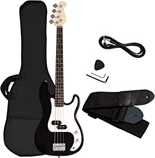 Best Goplus Electric Bass Guitar Full Size 4 String with Strap Guitar Bag Amp Cord (Black Bass 4 Straps) Review